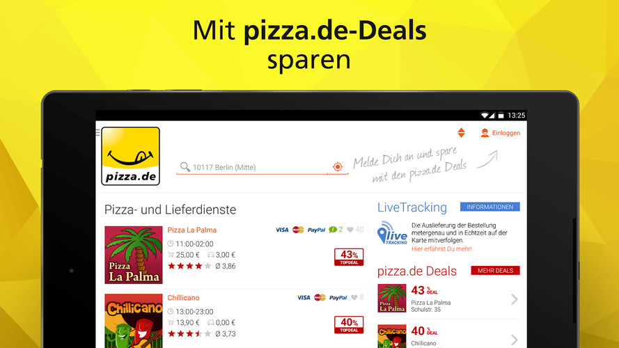 pizza.de - order food online screenshot 2