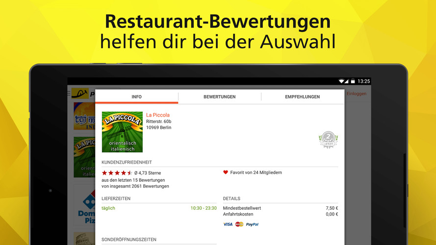 pizza.de - order food online screenshot 3