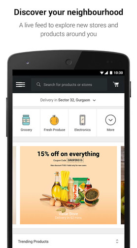 Free Grofers - Grocery Shopping cell phone app