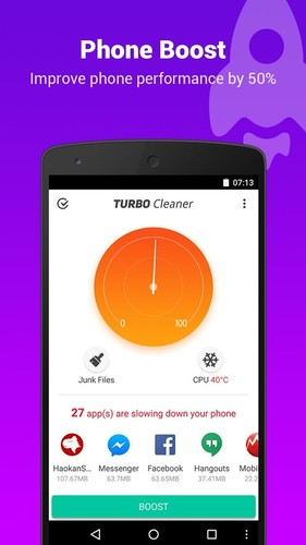 Free Turbo Cleaner - Boost, Clean cell phone app