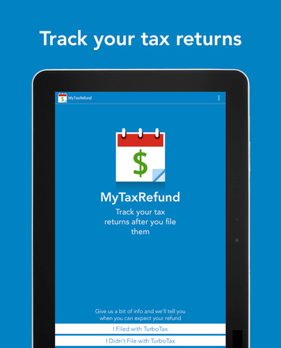 Free MyTaxRefund by TurboTax – Free cell phone app
