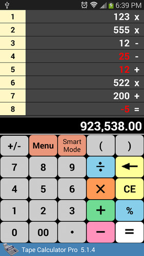 Free Tape Calculator Pro cell phone app