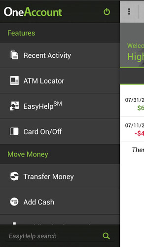 Higher One Mobile Banking App screenshot 2