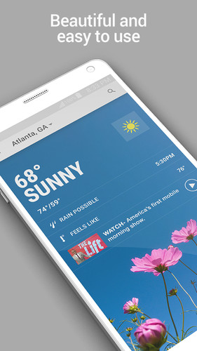 Free The Weather Channel cell phone app