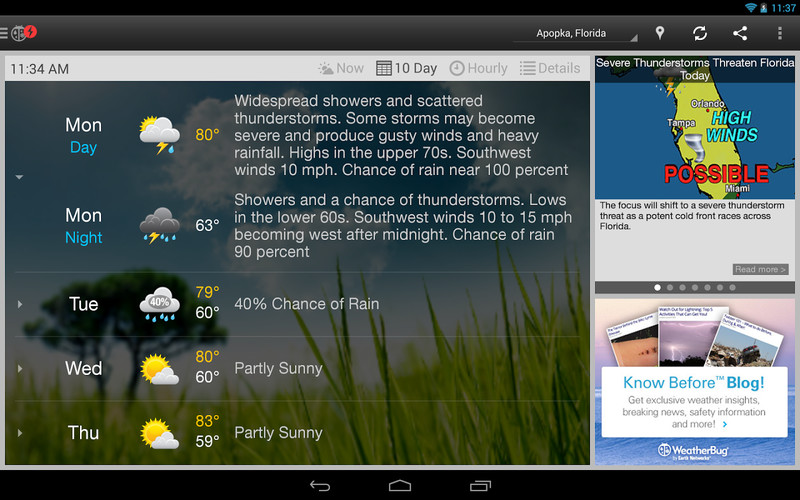 WeatherBug screenshot 4
