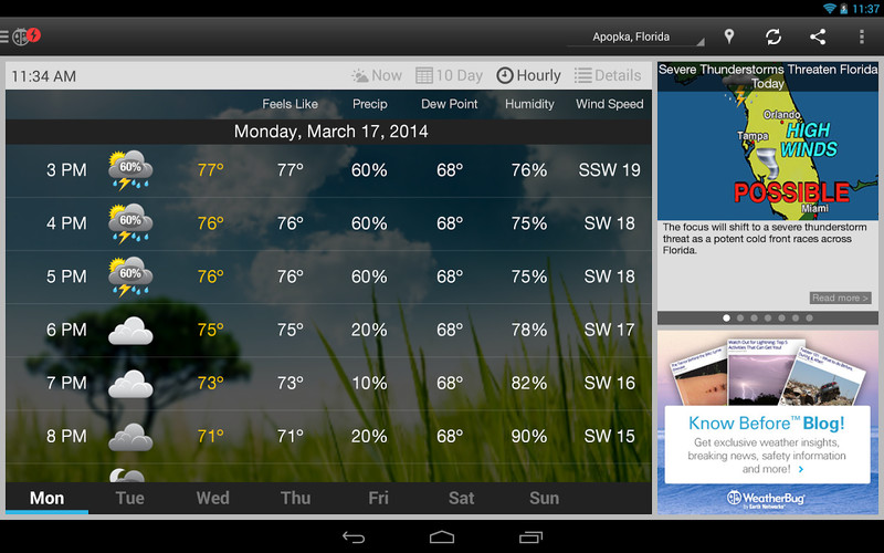 WeatherBug screenshot 5