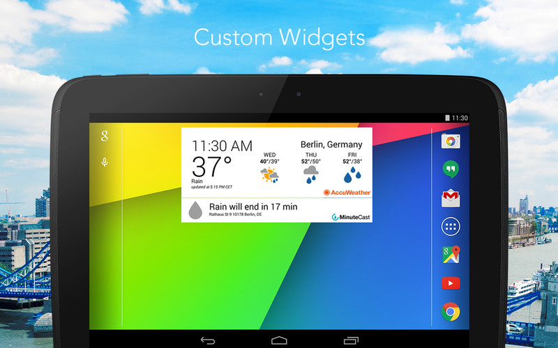 Free AccuWeather cell phone app