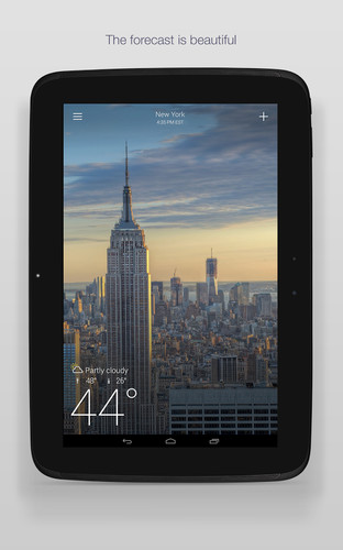 Free Yahoo Weather cell phone app
