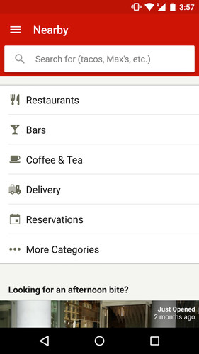 Free Yelp cell phone app