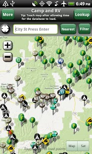 Free Camp and RV - Campgrounds Plus cell phone app
