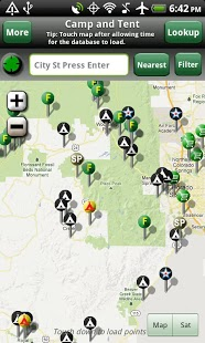 Free Camp and Tent cell phone app