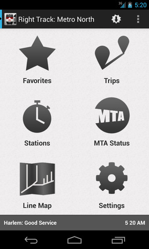 Free Right Track: Metro North & SLE cell phone app