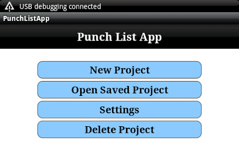 Free Construction Punch List cell phone app