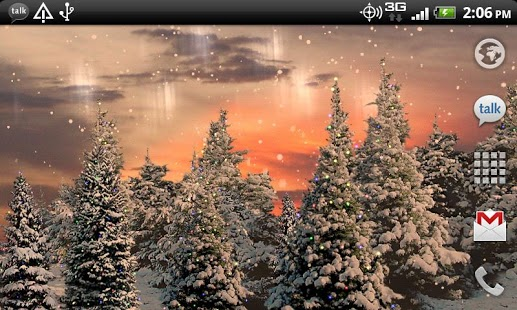 Snowfall Live Wallpaper screenshot 3