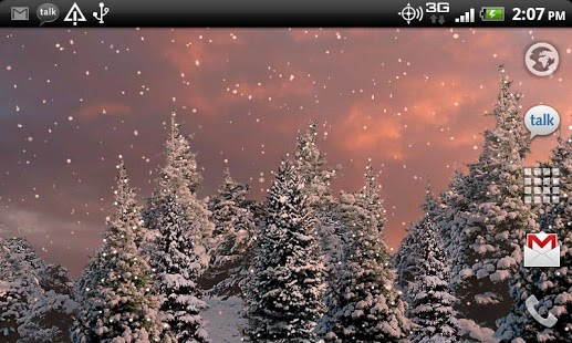 Snowfall Live Wallpaper screenshot 4