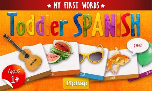 Free Toddler Spanish: 100 words cell phone app