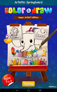 Free Color & Draw for kids HD cell phone app