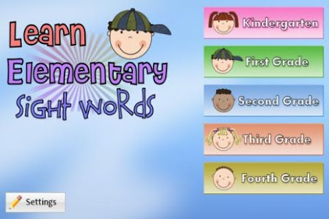Free Learn Elementary Sight Words cell phone app