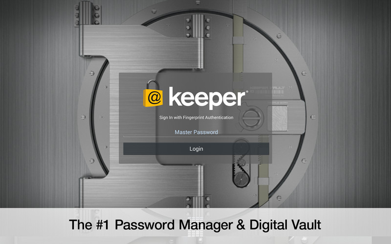 Free Keeper® Password Manager cell phone app