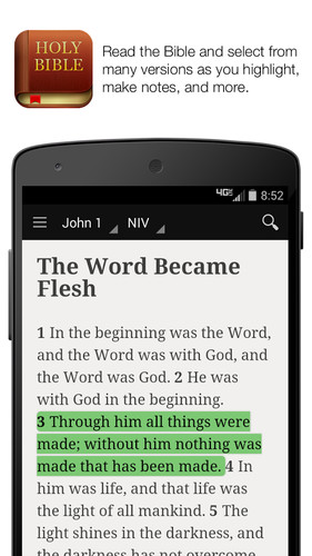 Free Bible cell phone app