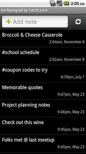 Free AK Notepad cell phone app