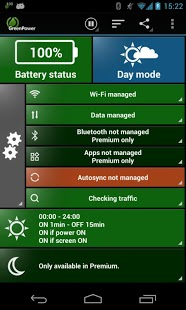 Free GreenPower Battery Saver Free cell phone app