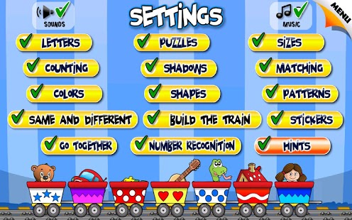 Free Kids Train Game cell phone app