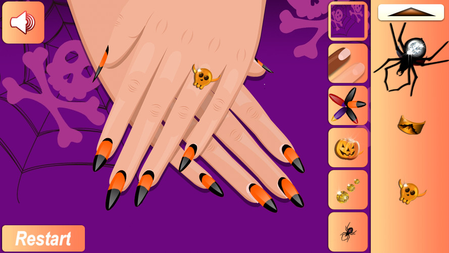 Free Halloween Nail cell phone game