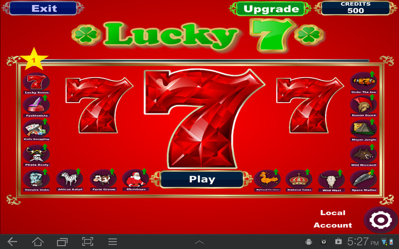Free Lucky Seven Slots cell phone game