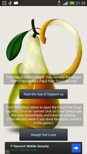 Free Papa Pear Lives (Cheats) cell phone game