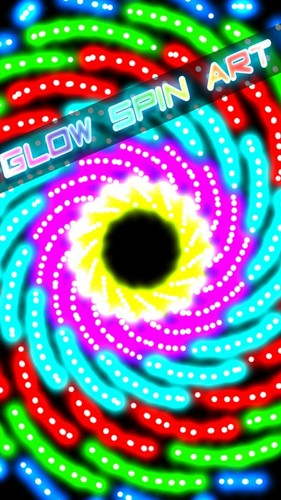 Free Glow Spin Art cell phone game