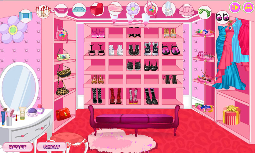 Free Decorate your walk-in closet cell phone game
