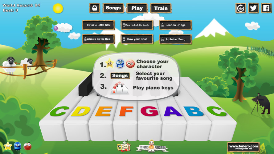 Free Music Keys cell phone game
