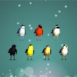 Animated 3D Singing Bird Piano