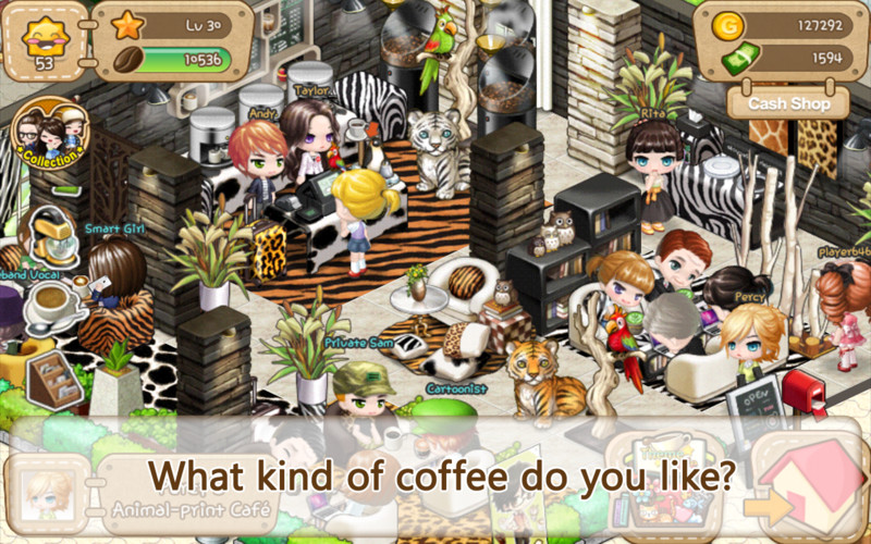 Free LINE I Love Coffee cell phone game