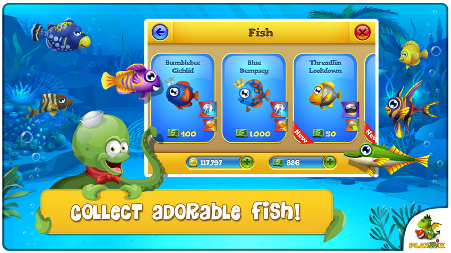 Free Pocket Fishdom cell phone game