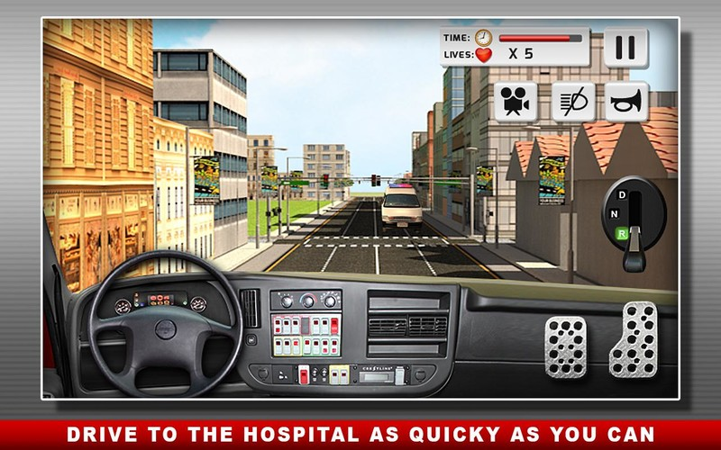 Free Ambulance Duty Simulator 3D cell phone game