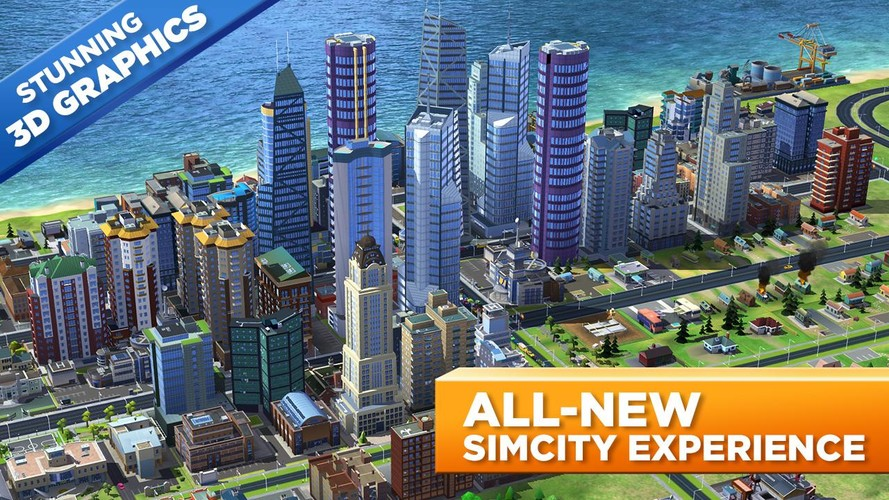 Free SimCity BuildIt cell phone game
