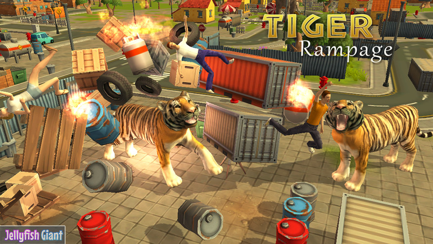 Free Tiger Rampage Simulator 3D cell phone game