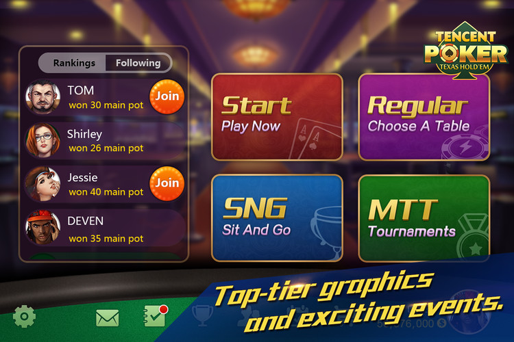 Free Tencent Poker-Texas Holdem cell phone game