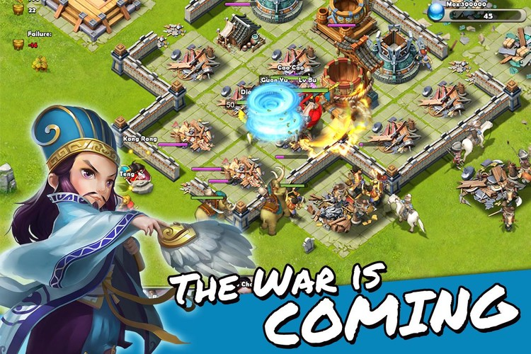 Free Dynasty War - Global PK cell phone game