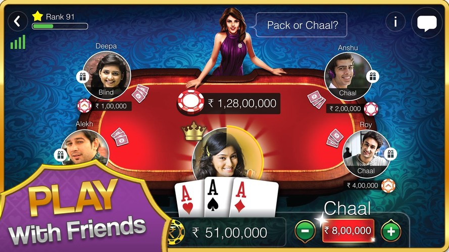 Free Teen Patti Gold cell phone game