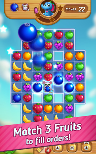 Free Fruits Mania : Elly's travel cell phone game