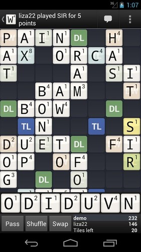 Free Wordfeud FREE cell phone game