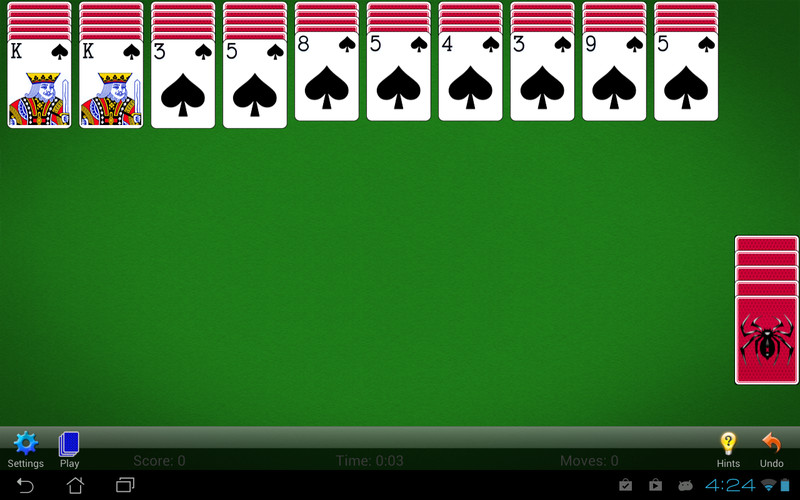 Free Spider Solitaire cell phone game