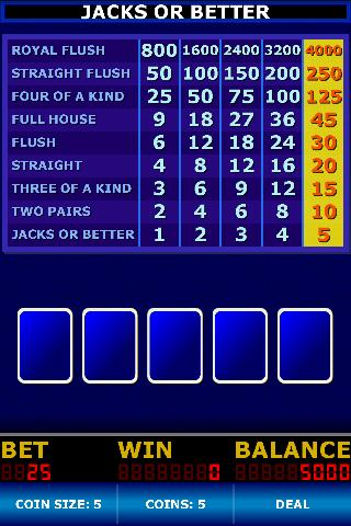 Free Video Poker Classic cell phone game