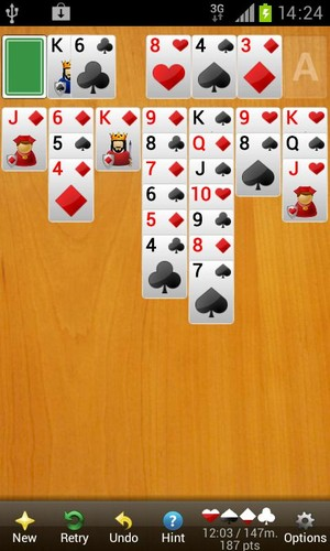 Free Solitaire Diamond Premium cell phone game