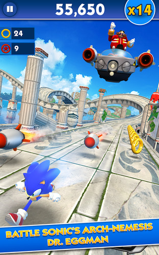 Free Sonic Dash cell phone game