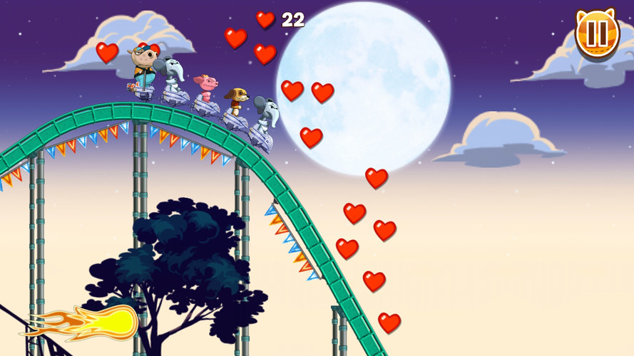 Free Nutty Fluffies Rollercoaster cell phone game