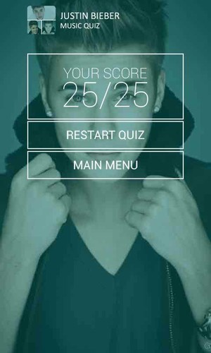 Justin Bieber Music Quiz screenshot 2
